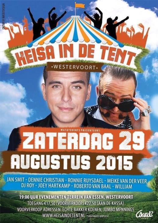 Heisa in de tent 29-08-2015