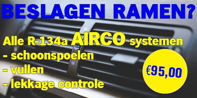 Beslagen ramen airco aanbieding